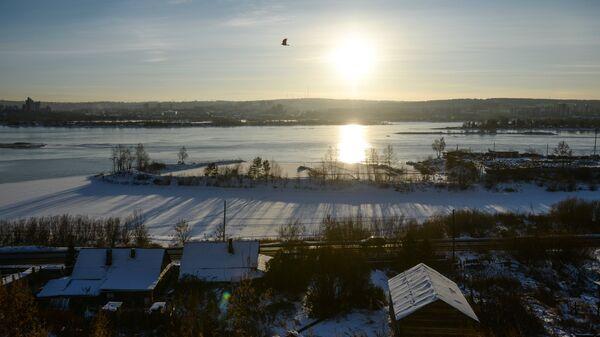 Вид на реку Ангара в Иркутске