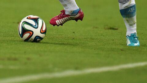 Игрок в матче группового этапа Чемпионата мира по футболу 2014 между сборными командами Аргентины и Боснии и Герцеговины