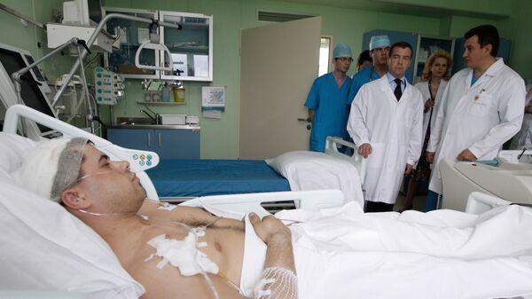 Дмитрий Медведев посетил Федеральный медицинский биофизический центр имени А. И. Бурназяна в Москве, 2010 год.