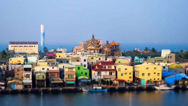 Вид на прибрежную часть города Гаосюн