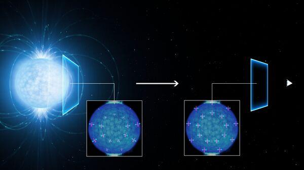 Так художник представил себе поляризацию света под действием квантовых свойств вакуума