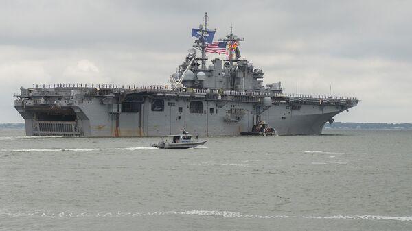 Универсальный десантный корабль Wasp ВМС США. Архивное фото
