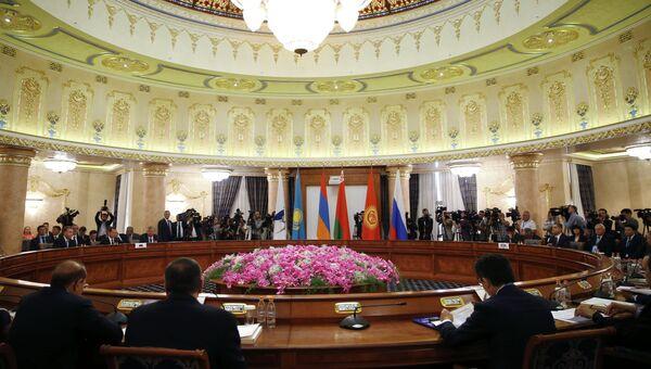 Заседание межправительственного совета Евразийского экономического союза (ЕАЭС) в широком составе. Архивное фото