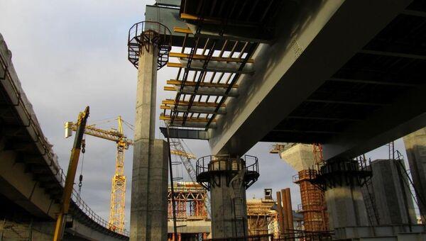 Строительство участка второй очереди Западного скоростного диаметра в Санкт-Петербурге, ноябрь 2011