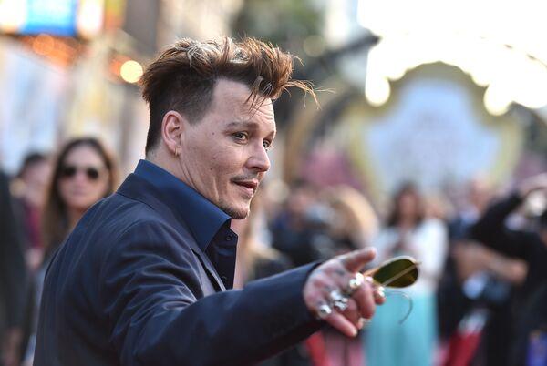 Американский актер Джонни Депп в Лос-Анджелесе. 23 мая 2016 года