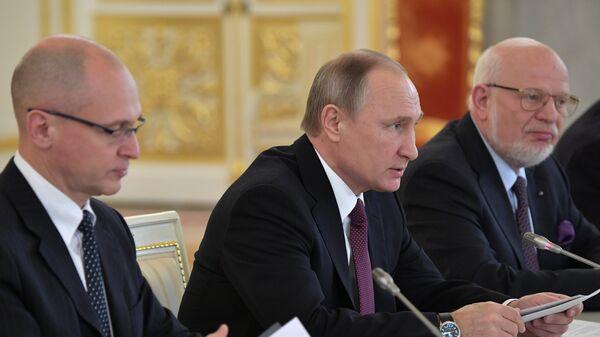 Президент РФ Владимир Путин проводит заседание Совета по развитию гражданского общества и правам человека. 8 декабря 2016