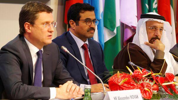 Александр Новак на переговорах между нефтедобывающими странами в Вене