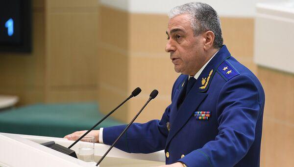 Саак Карапетян, назначенный на должность заместителя генерального прокурора РФ, на заседании Совета Федерации РФ