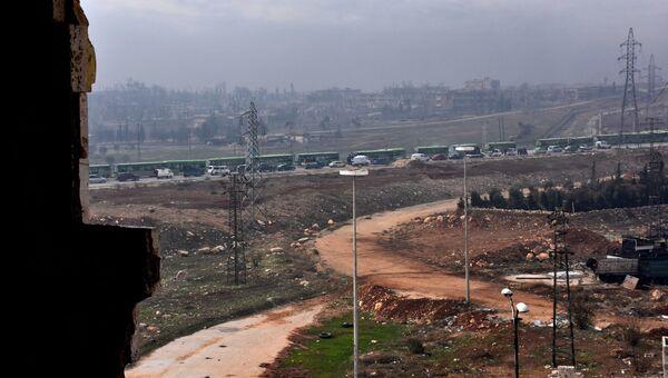 Эвакуация боевиков и мирных жителей из восточного Алеппо