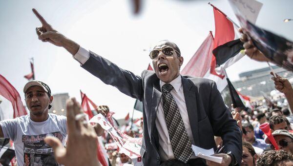 Противники президента Мухаммеда Мурси на площади Тахрир