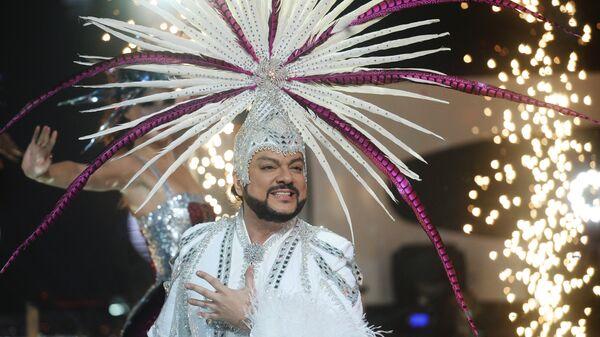 Певец Филипп Киркоров на съемках новогодней программы на Первом канале