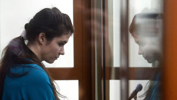 Оглашение приговора Варваре Карауловой в Московском окружном военном суде. 22 декабря 2016