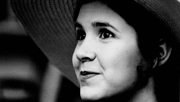 Американская актриса Кэрри Фишер. 1973 год