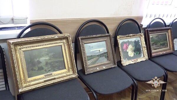 Похищенные картины художника Исаака Левитана.
