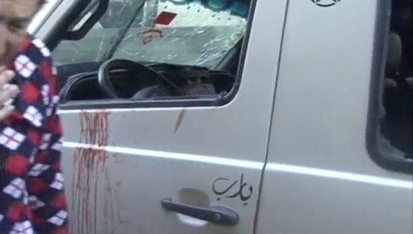 Взрыв автобуса на северо-востоке Ливана. 28 декабря 2016