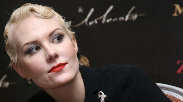 Актриса Рената Литвинова на презентации собственной коллекции одежды ZARINA & Рената Литвинова