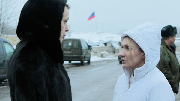 Руководитель рабочей группы ЛНР по обмену военнопленных Ольга Кобцева (слева) и уполномоченная по правам человека в ДНР Дарья Морозова. Архивное фото