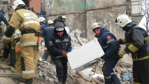 Обрушение дома в Казахстане