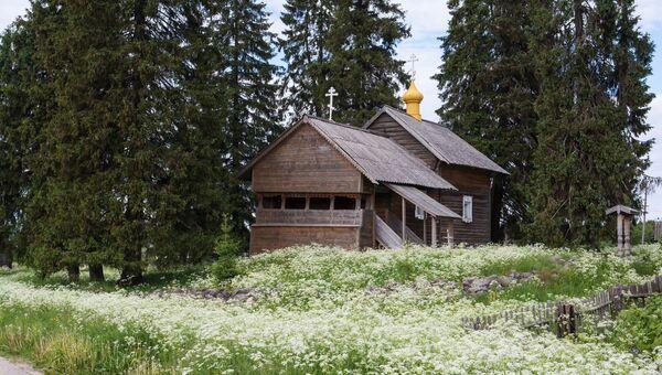 Часовня Смоленской Божьей Матери в деревне Кинерма в Карелии