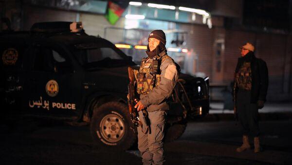 Афганский полицейский. Архивное фото