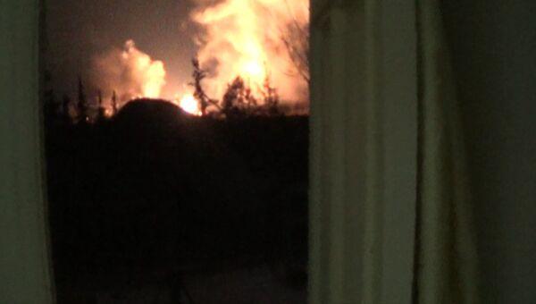 Военный аэропорт под Дамаском подвергся ракетному обстрелу. Съемка очевидца
