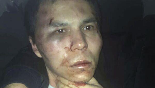 Задержанный по подозрению в совершении теракта в ночном клубе Стамбула. 17 января 2017