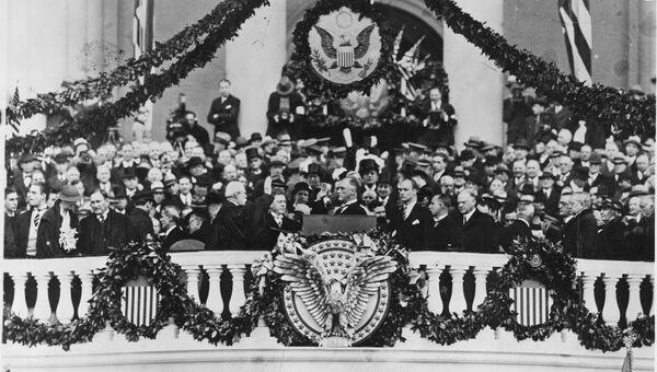 Инаугурация президента Франклина Рузвельта в Вашингтоне, округ Колумбия, США, 1933