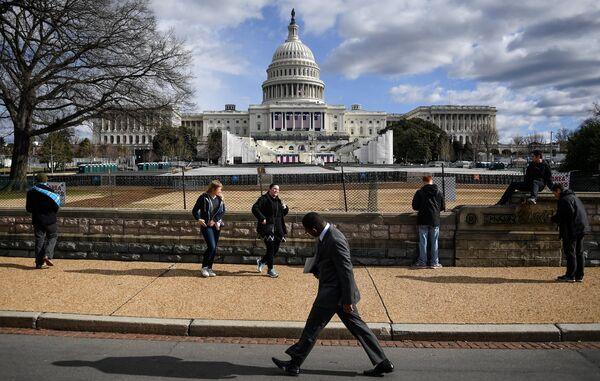 Подготовка к церемонии инаугурации избранного президента США Дональда Трампа в Вашингтоне