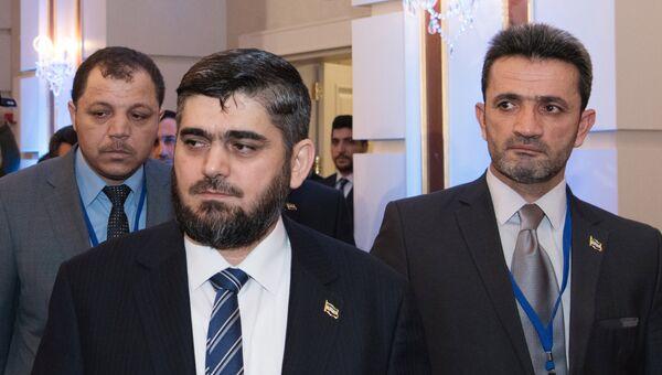 Глава делегации сирийской оппозиции Мухаммед Аллуш. Архивное фото
