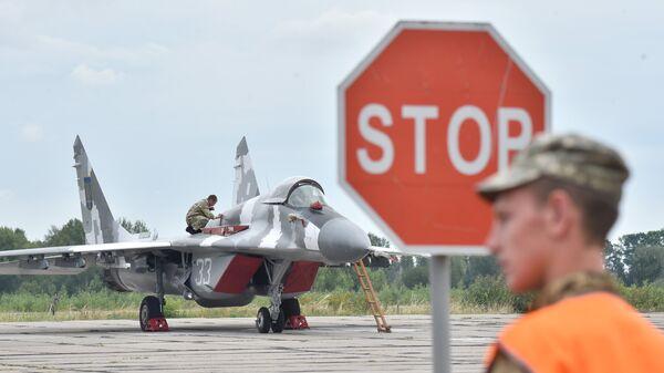 МиГ-29 ВВС Украины на аэродроме под Киевом