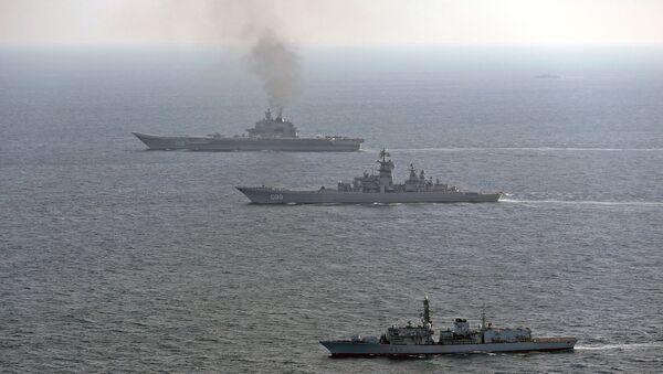 Британский корабль St Albans сопровождает российские корабли Петр Великий и Адмирал Кузнецов