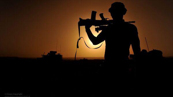 Британский военнослужащий в Афганистане