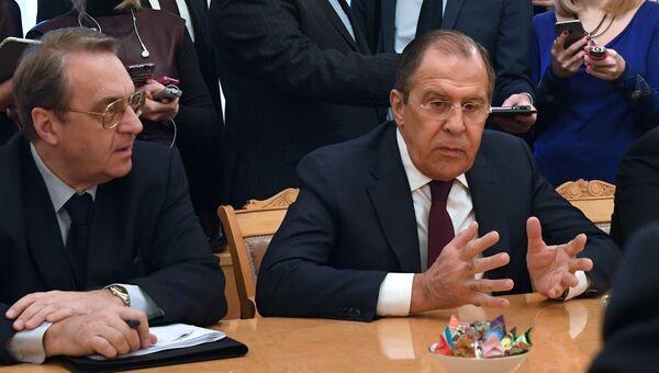 Министр иностранных дел РФ Сергей Лавров на встрече с представителями сирийской оппозиции. 27 января 2017