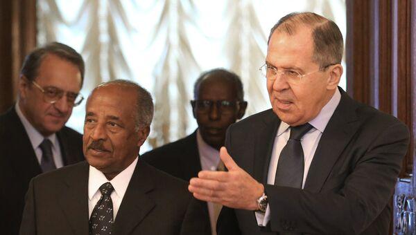 Министр иностранных дел РФ Сергей Лавров и министр иностранных дел Эритреи Осман Салех во время встречи в Москве. 30 января 2017