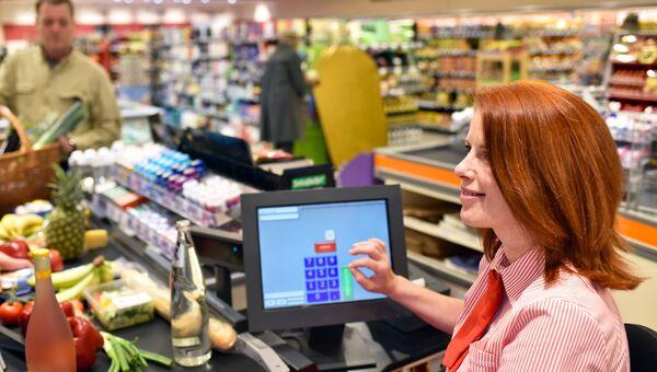 Касса в супермаркете. Архивное фото