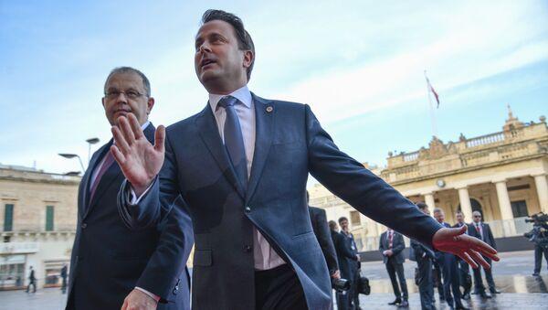 Премьер-министр Люксембурга Ксавье Беттель на неформальном саммите лидеров ЕС в столице Мальты Валетте. 3 февраля 2017