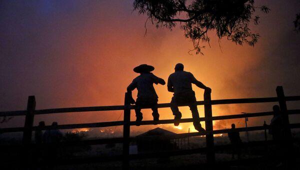 Природные пожары в Чили