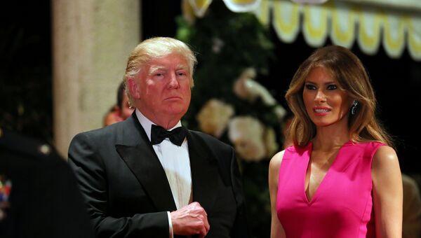 Дональд Трамп с супругой во Флориде