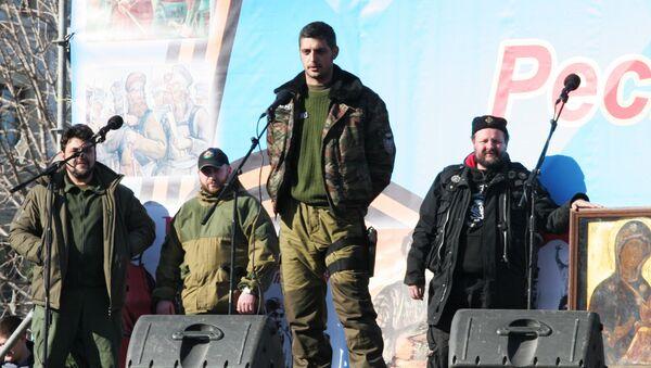 Ополченец ДНР с позывным Гиви. Архивное фото