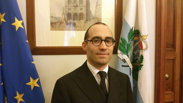 Государственный секретарь по иностранным делам, политическим вопросам и проблемам юстиции Сан-Марино Никола Ренци. Архив