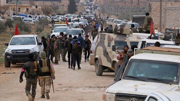 Турецкие военные в районе города Эль-Баб в Сирии, архивное фото