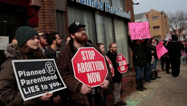 Протесты в США против абортов. 11.2.2017