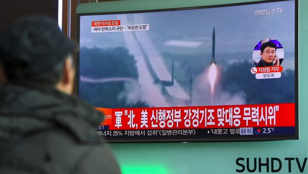 Северная Корея запустила баллистическую ракету 12 февраля 2017. Архивное фото