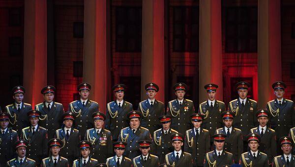 Выступление нового состава ансамбля песни и пляски Российской армии имени А. В. Александрова. Архивное фото