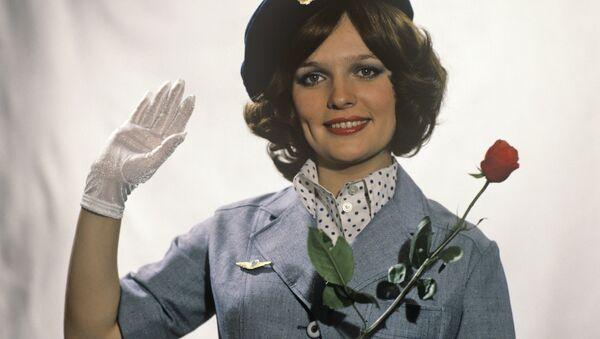 Стюардесса авиакомпании Аэрофлот