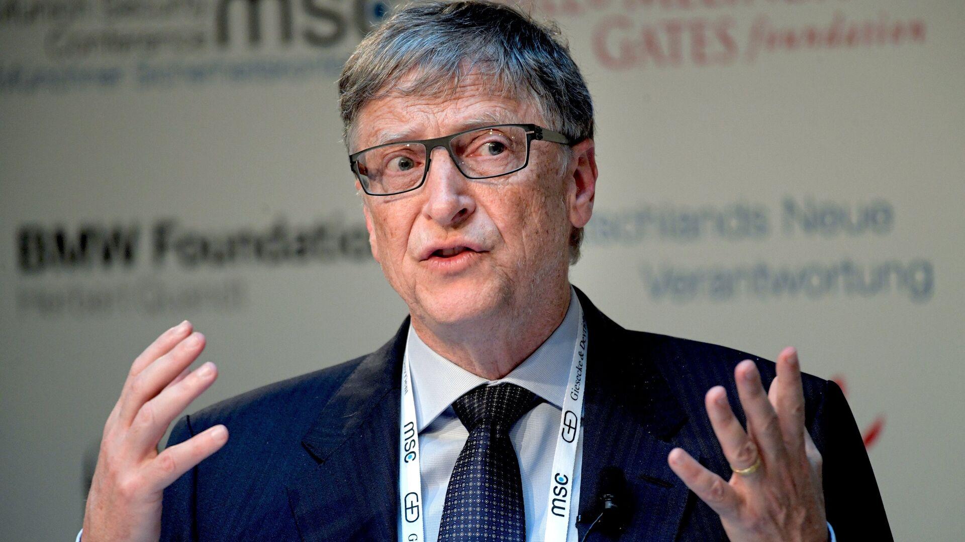 Бывший генеральный директор Microsoft Билл Гейтс на 53-й Мюнхенской конференции по безопасности - РИА Новости, 1920, 21.11.2020