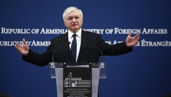 Глава МИД Армении Эдвард Налбандян. Архивное фото