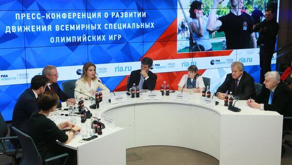 Пресс-конференция о развитии движения Всемирных Специальных Олимпийских игр в МИА Россия сегодня