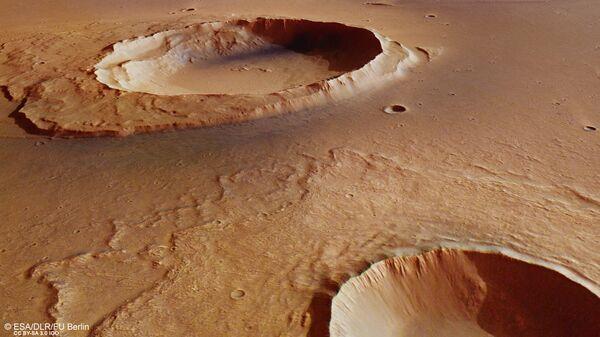 Кратер Ворчестера, где ученые нашли следы великого потопа Марса