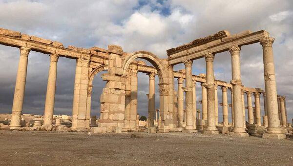 Историко-архитектурный комплекс Древней Пальмиры в сирийской провинции Хомс. Архивное фото